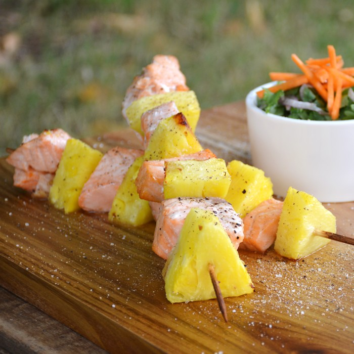 Salmon Pineapple Skewers